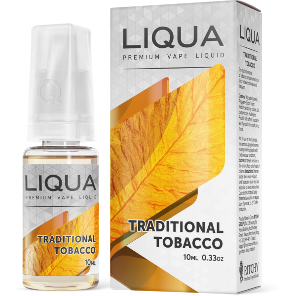 Liqua 10ml Traditional Tobacco